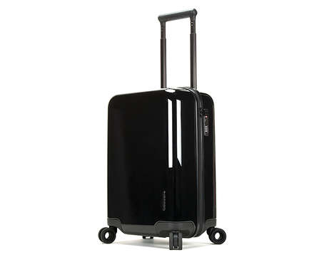Laptop-Charging Suitcases - The Incase NoviConnected Four-Wheel Travel Roller Suitcase is Stylish