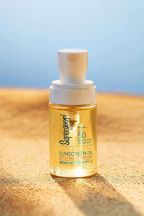 Meadowfoam Sunscreen Oils - Supergoop's Sun Care Serum is Infused With Nourishing Essential Oils