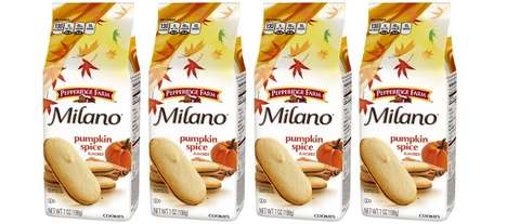 Autumn-Branded Crispy Cookies - The Pepperidge Farm Milano Pumpkin Spice Cookies are Light and Tasty