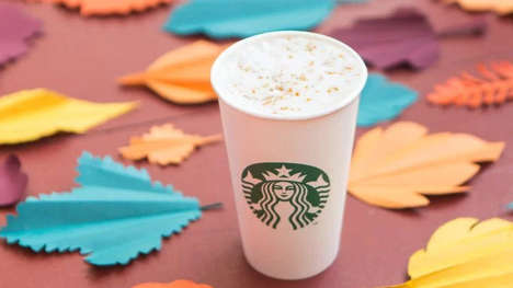 Maple Syrup-Infused Lattes - The Starbucks Maple Pecan Latte Launches on the First Day of Fall