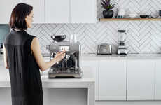 Touch-Enabled Coffee Machines - The Breville Oracle Touch Adds a New Touchscreen Interface