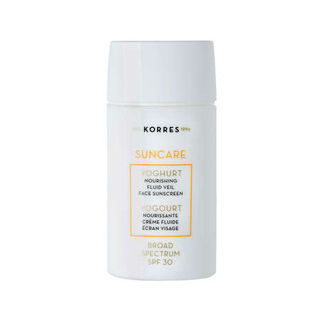 Lightweight Yogurt Sunscreens - Korres' Face Sunscreen Features Reparative, Nourishing Yogurt