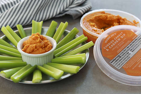 Curried Cashew Dips - Trader Joe's Bold Cashew Dip Blends Curry Powder and Carrots