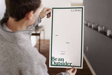 "Sunlight-Activated Outdoor Ads - These Posters Introduce L.L. Bean's New Tagline, ""Be an Outsider"""
