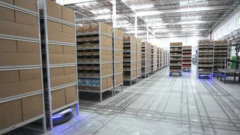 Robot-Run Warehouses - Alibaba's Smart Warehouse Concept Replaces Staff with Intuitive Machines
