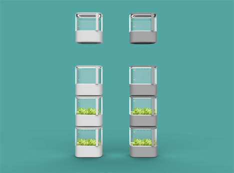 Stackable Indoor Gardens - These Pods Make Indoor Planting Easier for Apartment Dwellers