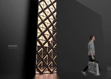 Customizable Construction Illuminators - The 'Vector Light' is Sculptural and Intriguing