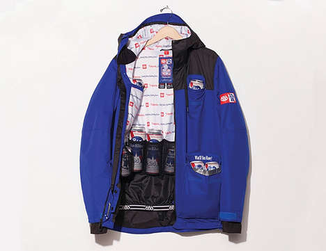 Beer-Accommodating Jackets - The 686 Outerwear Sixer Insulated Jackets Hold Up to 12 Beers at Once