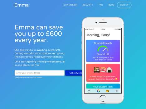 Spend-Curbing Finance Apps - The 'Emma' App Saves You Money by Tracking Subscriptions and More