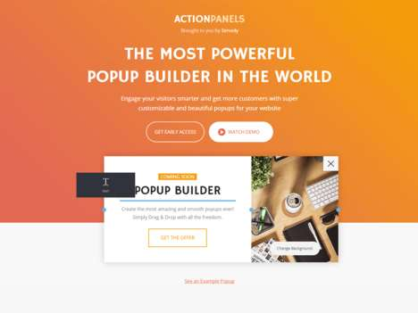 Customizable Popup Tools - ActionPanels is a Bulgarian SaaS Startup and Website Popup Builder