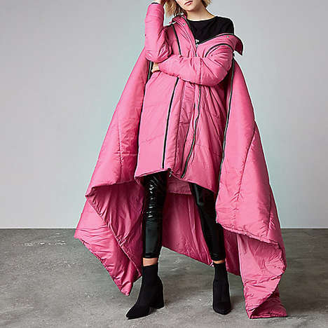 Sleeping Bag Puffers - This Oversized Sleeping Bag Coat Will Keep You Cozy in Cold Weather
