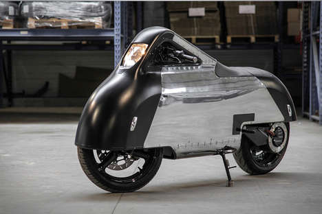 Enclosed Electric Bikes - The 'Hope' Electric Bike Concept is Modern and Stylistic