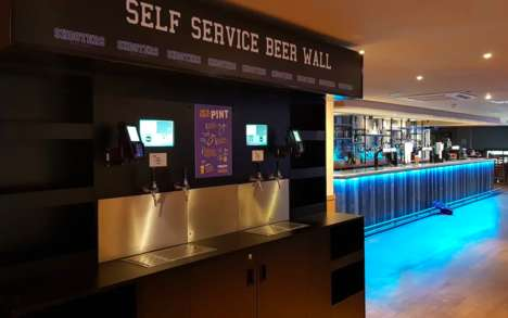 Self-Serve Beer Stations - Reading University's 'Beer Wall' Features 16 Varieties on Tap