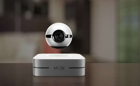 Levitating 360-Degree Security Cameras - The 1-Ring 'Moon' Smart Camera Records All the Action