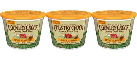 Honey-Infused Food Spreads - The Country Crock Honey Spread Adds a Sweet, Buttery Finish