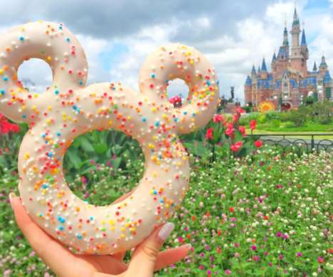 Cartoon Mouse-Shaped Donuts