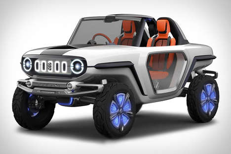 Futuristic Off-Road SUVs - The Suzuki e-Survivor SUV Concept Has New and Old Design Accents