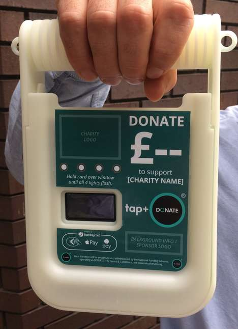 Contactless Donation Units - DONATE's 'tap+ DONATE' Boxes Easily Connects Cashless Donations