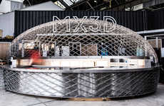 3D-Printed Cafe Bars - MX3D's 'Cucuyo' is a Cocoon-Shaped Outdoor Grab-and-Go Cafe