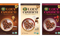 Crunchy Granola Dessert Cereals - The Nature's Path Love Crunch Granolas are Infused with Treats