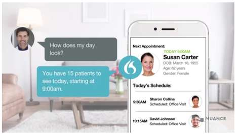 Healthcare Smart Speakers - The Dragon Medical AI Assistant From Nuance Uses a Smart Speaker System