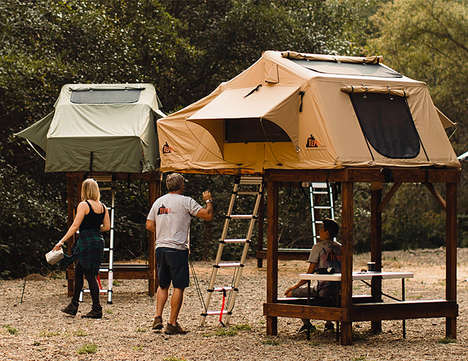 Elevated Rooftop Tent Frames - The Tepui SkyCamp Creates a Raised Tenting Area for Campers