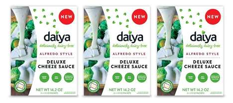 Plant-Based Alfredo Sauces - The Daiya Alfredo Style Deluxe Cheeze Sauce is Soy and Dairy-Free