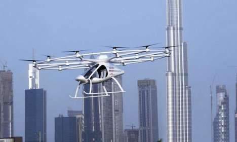 Unmanned Drone Taxis - Dubai Successfully Tested The Two-Seater Autonomous Air Taxi Prototype