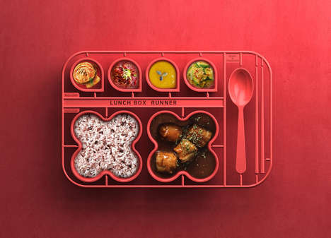 Sectioned Kiddie Food Plates - The 'Lunchbox Runner' Portions Meals and Has a Multipurpose Design