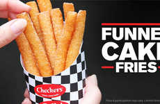 QSR Dessert Side Dishes - The Checkers and Rally's Funnel Cake Fries are Fair-Inspired