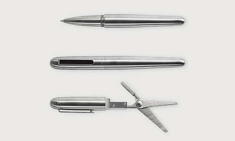 Scissor Pen Inventions - This Durable Creation is a Pen and Scissors Together in One Handy Tool