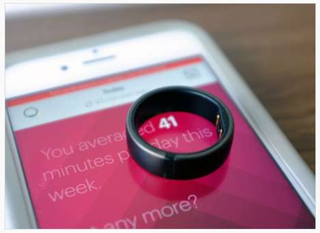 Focus-Shifting Fitness Rings - Motiv Measures The Time You Spend Activity Moving Over Distance