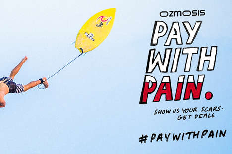 Painful Skate Shop Promotions - Ozmosis is Offering a Discount for Injuries with #PayWithPain