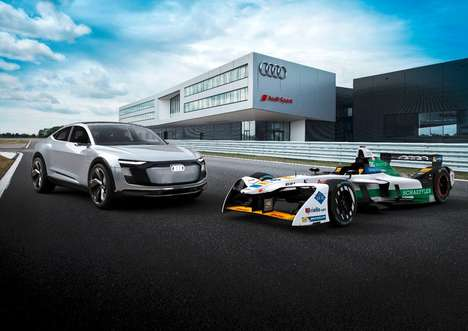 Trailblazing Electric Race Cars - The Audi FE04 Features All-New Powertrain and Design Elements
