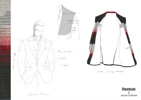 Custom Athleisure Formalwear - Reebok is Partnering with Menswear Tailors to Create a Suit