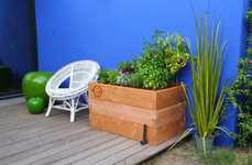 Urban Gardening Boxes - The Haut Potager Kitchen Garden Kit Fits on Rooftops and Balconies
