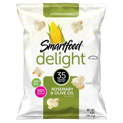 Rosemary Popcorn Snacks - The Newest Smartfood Delight Flavor is Herb-Based