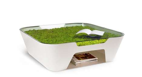 Greenery-Infused Coffee Tables