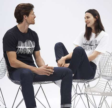 Commemorative Clothing Collections - Uniqlo's Sprz NY Eames Collection Celebrates the Eames Brothers
