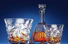 Multifaceted Diamond Tumblers - Ashcroft's Diamond-Cut Whisky Glasses were Designed in Poland