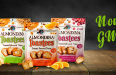 Crispy Cookie Dessert Snacks - The Almondina Toastees are Made with Non-GMO Ingredients