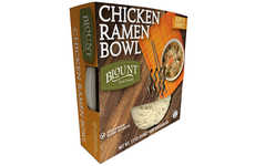 Premium Prepackaged Noodle Bowls - The Blount Fine Foods Chicken Ramen Bowl is Ready in 3 Minutes