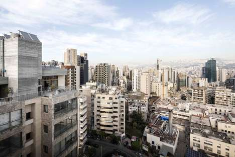Concrete Roof Extensions - Le 13eme Roof Extension Offers Views of the Beirut Skyline