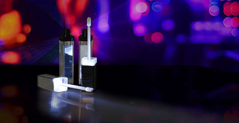 LED Lip Gloss Applicators - Raepak's Light-Up Lip Gloss Container Also Includes a Mirror