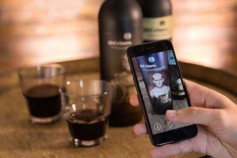 AR Wine Labels - Treasury Wine Estates' 19 Crimes Bottles Bring 19th Century Convicts to Life