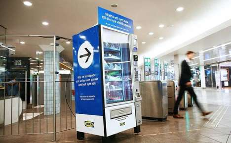 Kitchen Tool-Vending Machines - This Subway Station Machine Dispenses IKEA Kitchen Tools