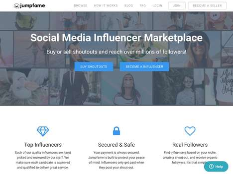 Influencer Shoutout Marketing Platforms - 'Jumpfame' Connects Influencers and Marketers Together