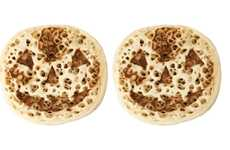 Jack-o'-Lantern Breakfast Breads - The Asda Halloween Crumpets are Adorned with a Spooky Smile