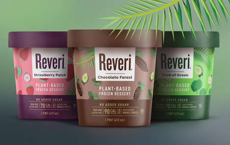 Veggie-Based Frozen Desserts - Spinach, Peas and Spirulina are Ingredients in Reveri's Desserts