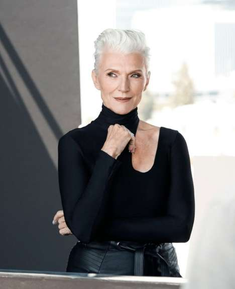 Mature Cosmetic Ambassadors - CoverGirl's Newest Ambassador is 69-Year-Old Maye Musk
